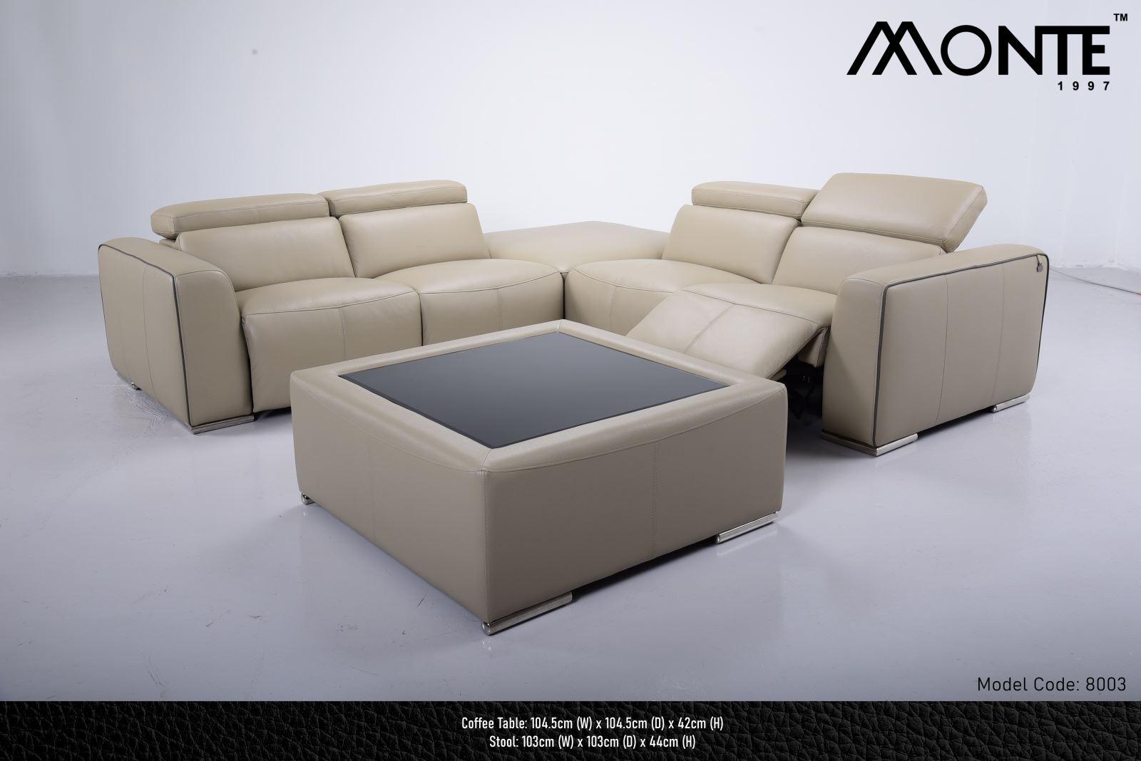 SOFA DA BÒ - MONTE MODEL 8003 (1+2+3)